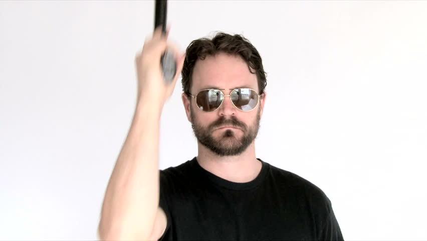 Shooting a gun naked-2432