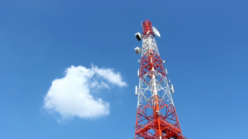 Man Working On Radio Telecommunication Tower, Radio Master