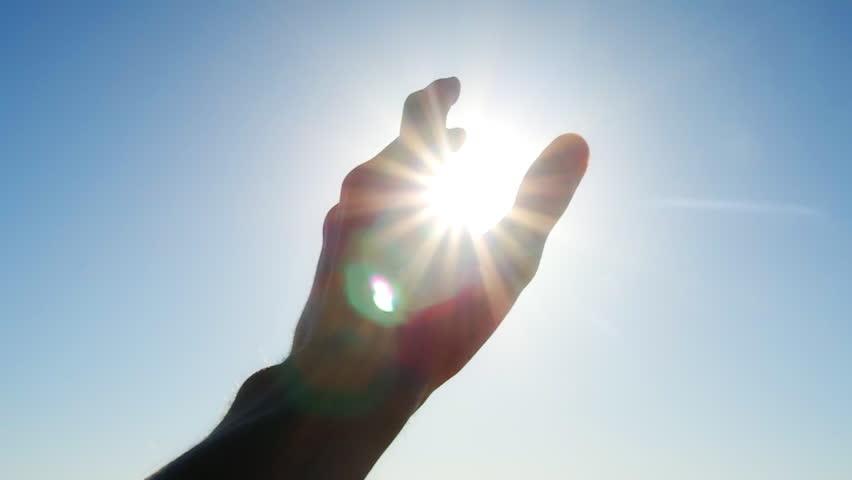 Hand to sun #6089771