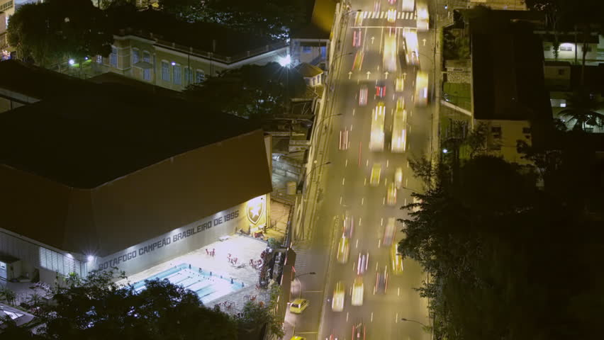 Time lapse above busy street with traffic in Rio de Janeiro, Brazil | Shutterstock HD Video #6106850