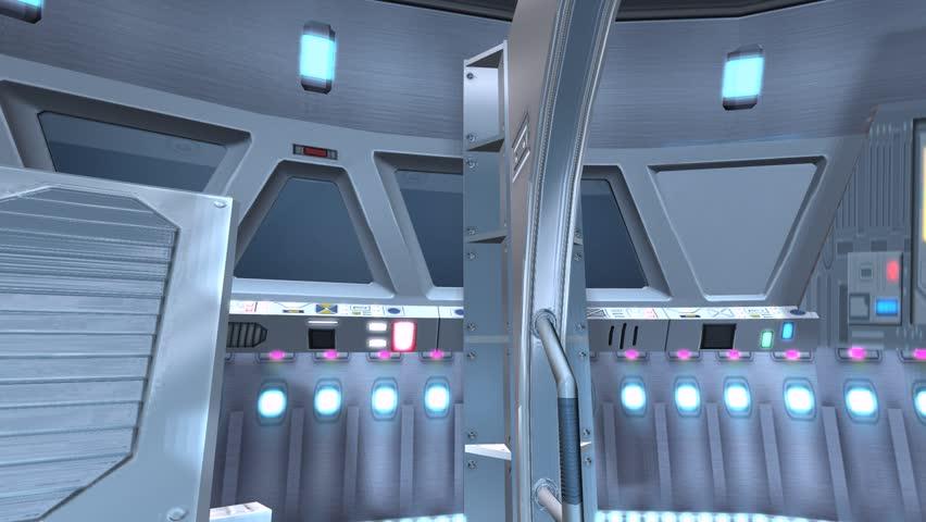Tech controller & control station,Sci-fi universe Modern space scene. cg_01075