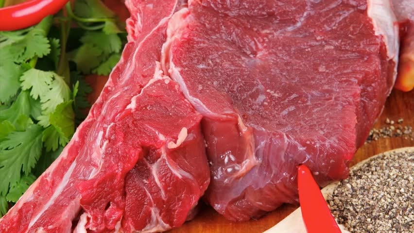 Fresh Meat : Raw Uncooked Stock Footage Video (100% Royalty-free) 6143621 |  Shutterstock