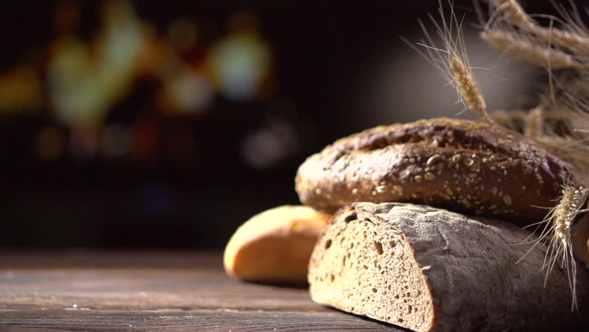 bakery bread on a wooden stock footage video  100  royalty