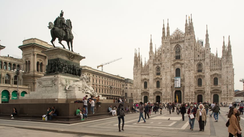 Milan Italy 6 March Stock Footage Video 100 Royalty Free