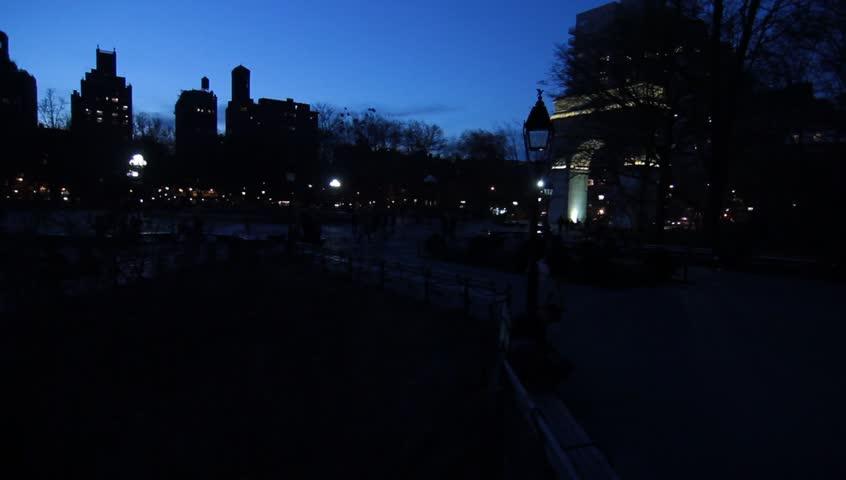 Washington Square at  night spring 2014 | Shutterstock HD Video #6176261