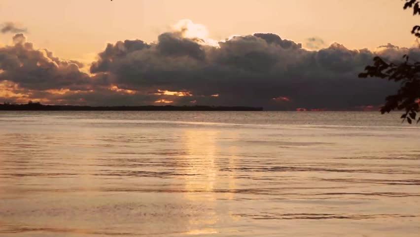 Beautiful sunrise over Lake Ontario.