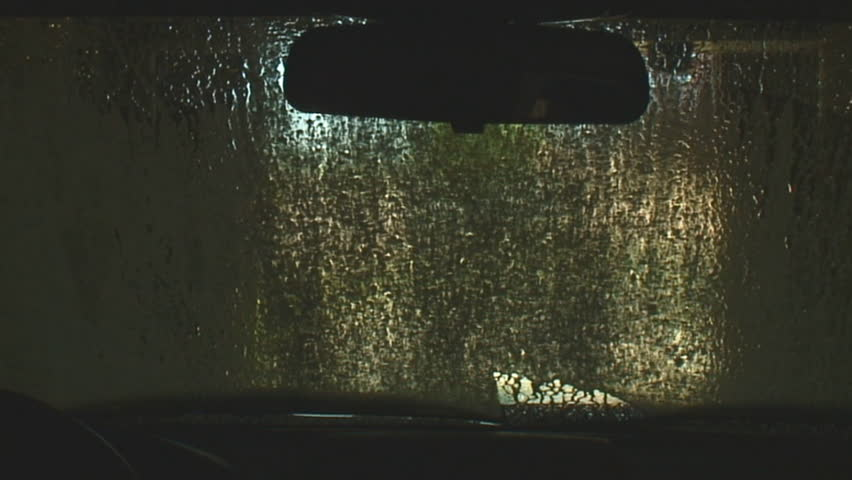 touchless car wash soap and rinse cycle, dashboard view