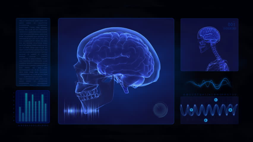 Medical display in loop - brain concept  --- Similar videos in my portfolio ---