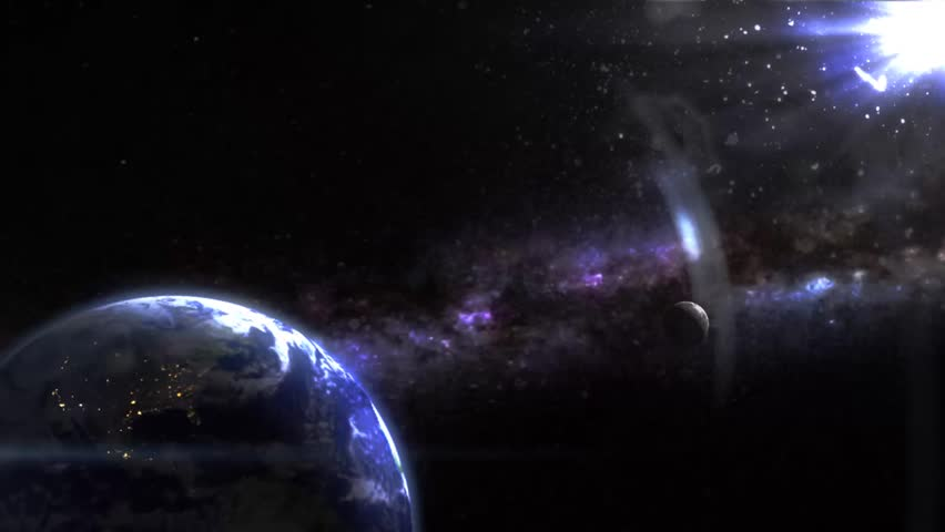 Earth like planet in space i drew every element no public domain earth in the space backgroundvideo hd stock video clip voltagebd Gallery