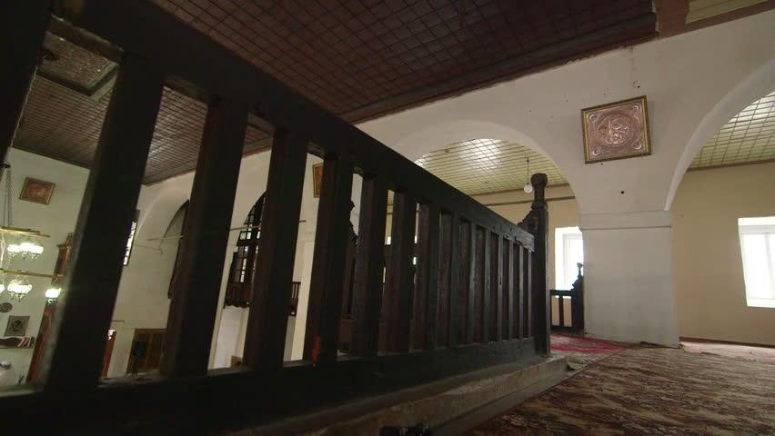 Prayer hall interior of Big Khan Mosque in Bakhchysaray, Crimea   Shutterstock HD Video #6265541