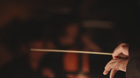 symphony orchestra stock footage conductor hands