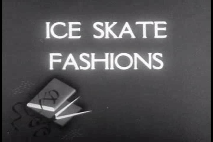 CIRCA 1950s - 1950s ice skating clothing fashions. | Shutterstock HD Video #6267197