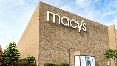 SALINAS, CA/USA - FEBRUARY 8, 2014: Macy's store in Salinas California.  Macy's is a mid-range to upscale chain of department stores owned by American multinational corporation Macy's, Inc.