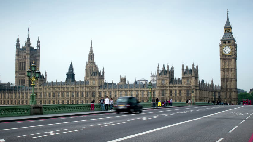 The Houses Of Parliament Uk Time Lapse With A Moving Camera The Uk Parliament Building The Palace Of Westminster Seen From Westminster Bridge