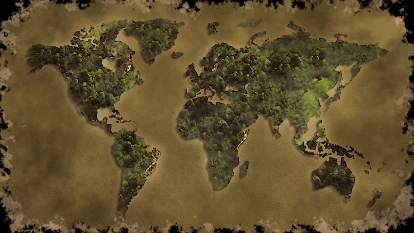 The old world map flip on vintage paper with burn animation stock the old world map flip on vintage paper with burn animation hd stock video clip gumiabroncs Gallery
