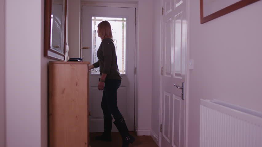 Woman Opening Door For Friend Stock Footage Video 6436661 | Shutterstock & Woman Opening Door For Friend Stock Footage Video 6436661 ...