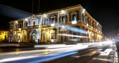 Trujillo at night in Peru - 4K Timelapse video footage