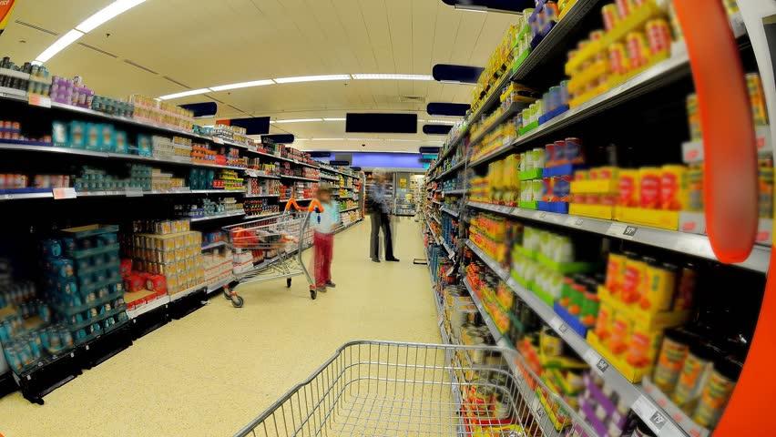 Supermarket Shopping Isle Time Lapse | Shutterstock HD Video #653347