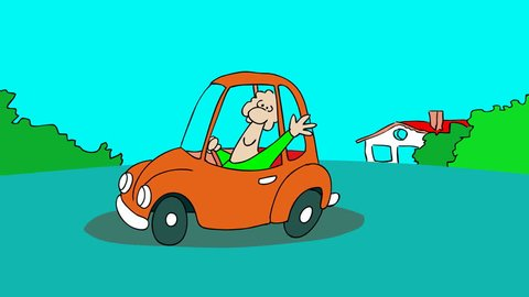 CAR CRASH A small gag about traffic accident.2D animated cartoon.HD 1080.