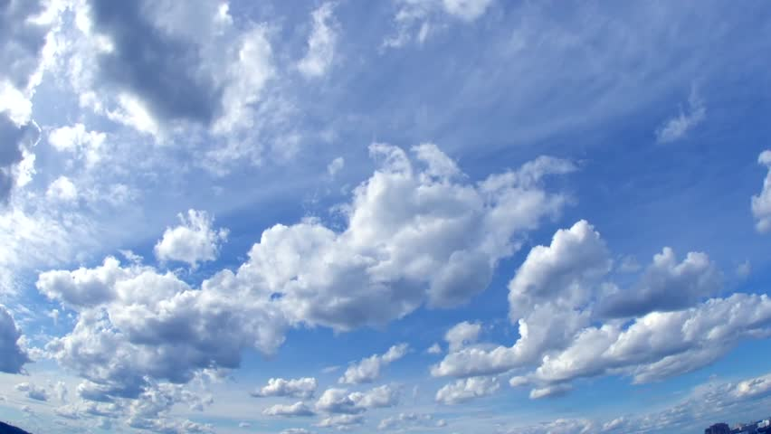 Sky with clouds. Timelapse. Time lapse. Rain clouds. Full HD 1080 video footage