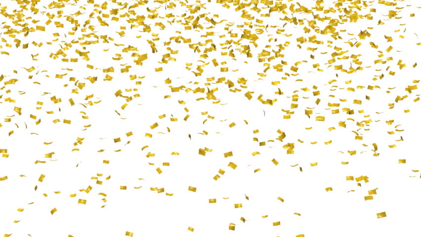 Gold confetti with alpha mask