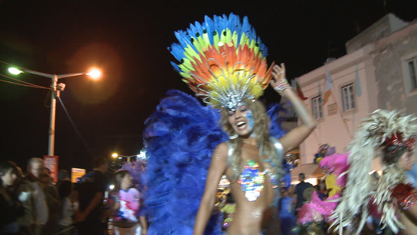 SESIMBRA, PORTUGAL - FEBRUARY 14: Brazilian Carnival event February 14, 2010 in Sesimbra, Portugal