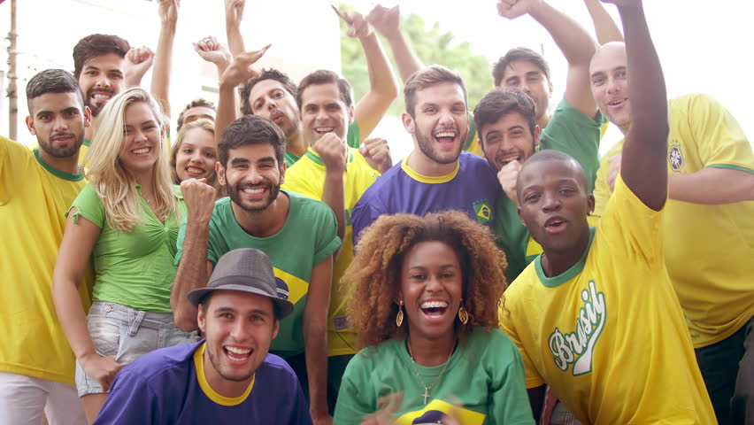 Soccer Fans Pose and Cheer for the camera after team victory  | Shutterstock HD Video #6668291