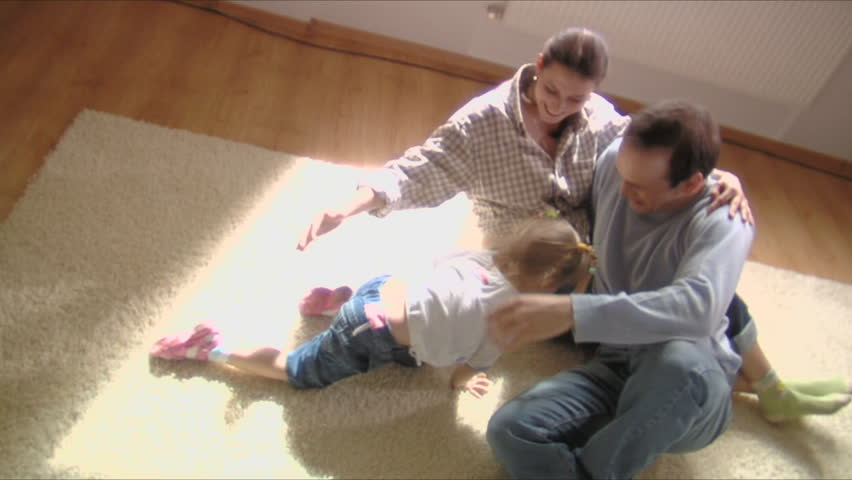 stock video footage happy family moves into a new apartment