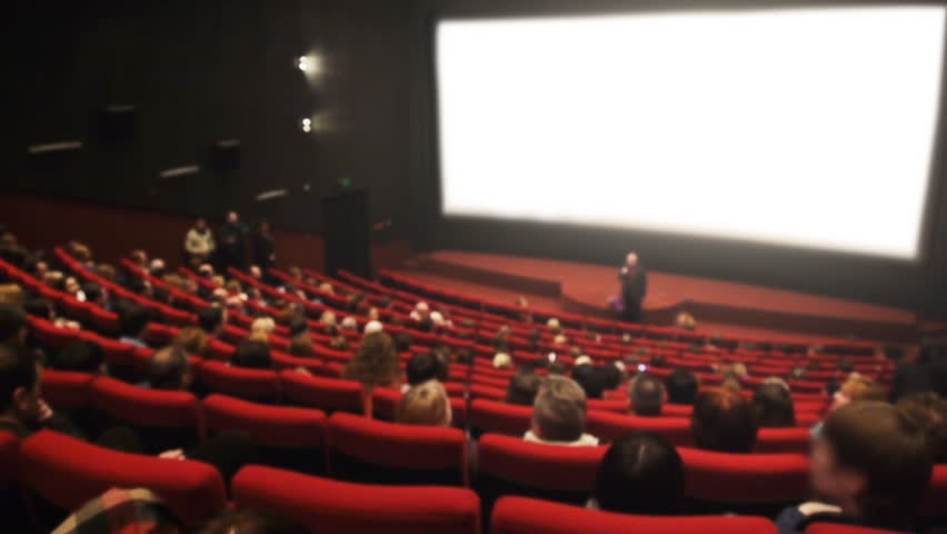 Audience in the cinema hall is applauding, with Sound.