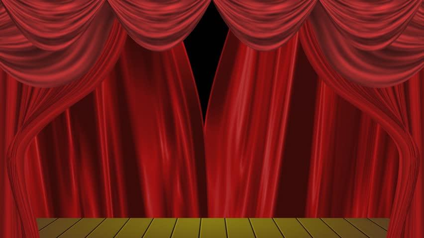 Open Curtain Design   HD Stock Video Clip