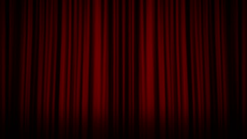 Theater Stage And Curtain, With Alpha Matte   HD Stock Footage Clip
