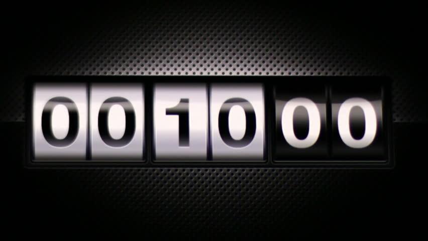 Classical countdown digital scoreboard. From ten to zero countdown. Digital display on black background.  | Shutterstock HD Video #6866011