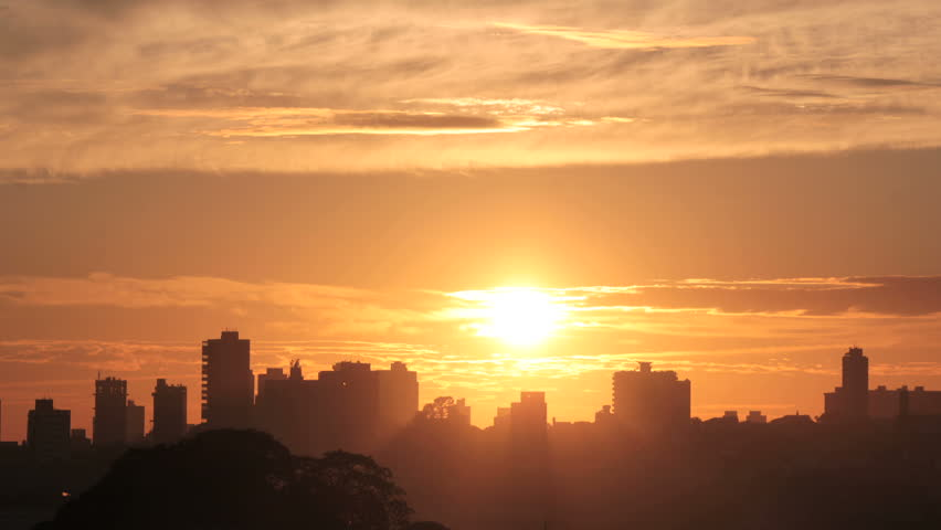 Sunrise Timelapse - Magnificent. View of the city at sunrise | Shutterstock HD Video #6934771