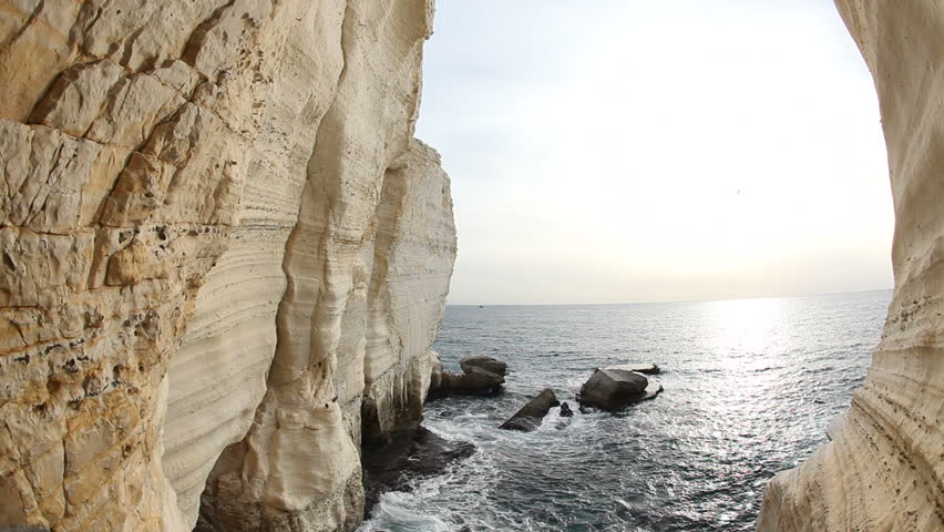 The grottoes of Rosh Hanikra, Galilee, Israel
