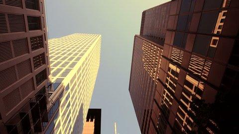 modern glass skyscraper buildings. company business buildings. real estate. frankfurt am main