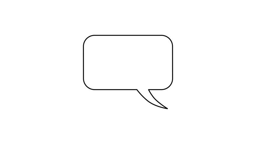 Four Variations Of Blank Cartoon Speech Bubbles, With Luma