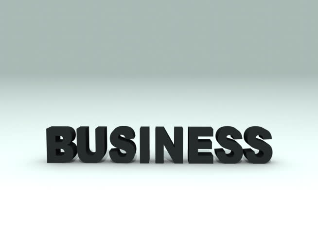 Business word breaking into pieces, slow motion 3d animation - NTSC | Shutterstock HD Video #701581