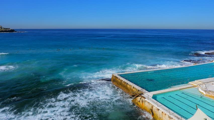 Ocean Pool, Bondi Beach, Sydney 4k