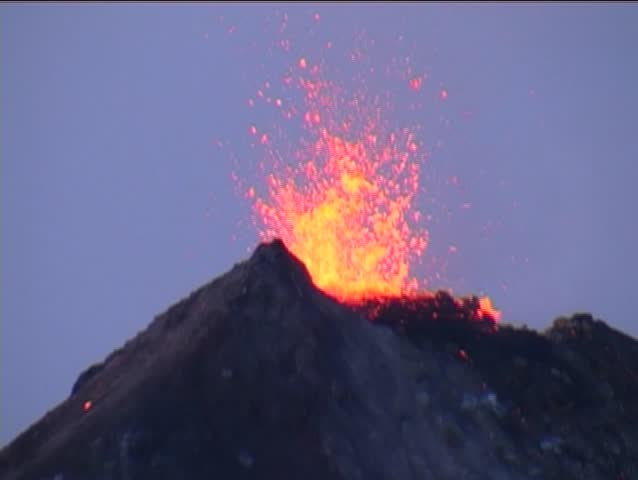 Summit eruption of volcano Fuego in Gaatemala