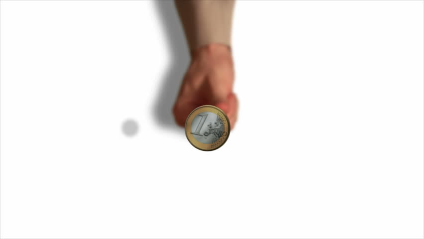 HD 1080 - Businessman tosses a coin (white background)