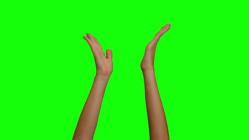 Clapping hands green screen