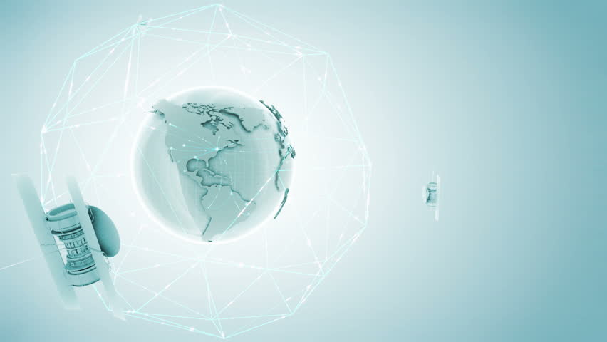 Globe with network on a light background. Data packets moving between continents Last 2 seconds of this footage is seamless loopable  | Shutterstock HD Video #717871