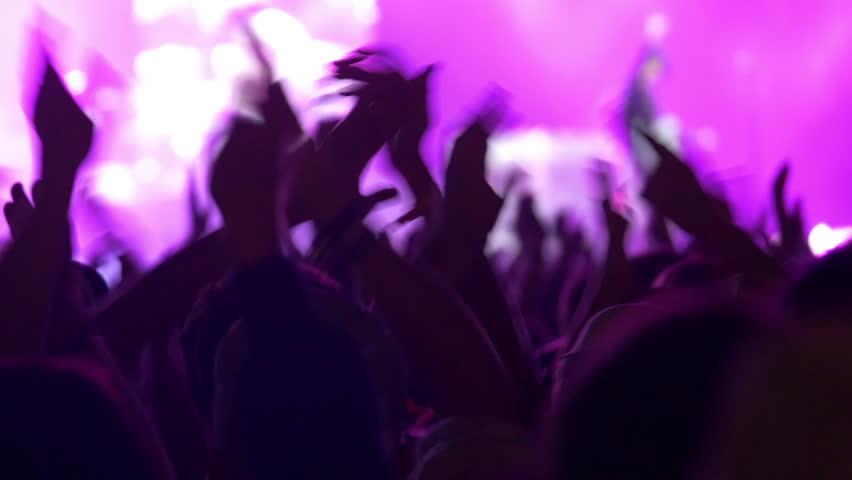 4K Concert crowd at live music festival #7188361
