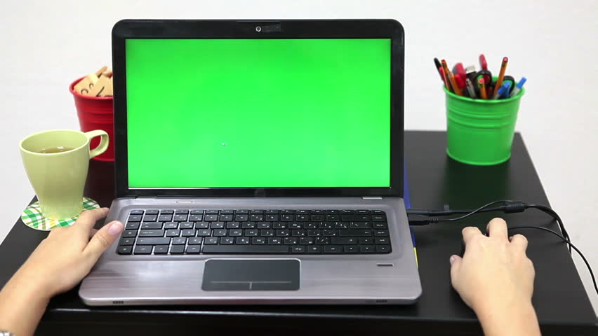 Human Hands On Table with Stock Footage Video (100% Royalty