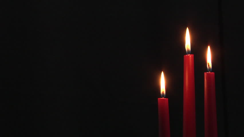 Group Of Three Burning Dark Red Dinner Candles With Black Background Copy E Stock Footage Video 722251 Shutterstock