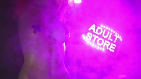 Adult store sex shoppe concept