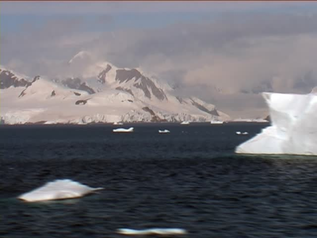 Beautiful Iceberg at Antarctica, taken from a passenger cruise ship and speedup up with Time Lapse.