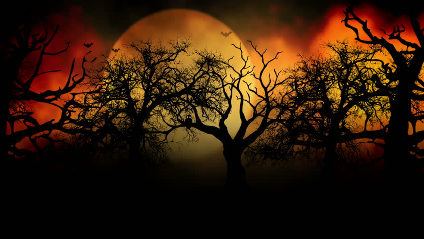 Animated Stylish Background Useful For Halloween,spooky, Scary ...