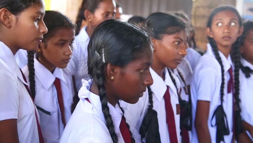 indian school girl sitting