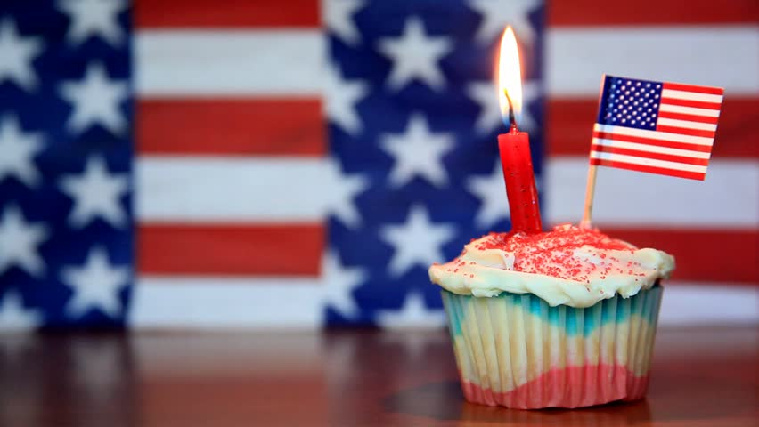Stock Video Of Happy Birthday Usa Cupcake Right 739321